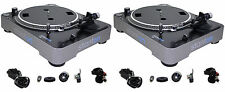 (2) STANTON T62B DIRECT DRIVE TURNTABLES+NEEDLES T.62 B