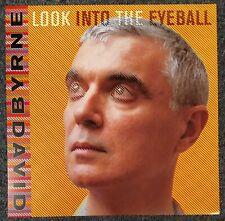 David Byrne Look into the Eyeball 2001 Cardboard Promo Poster Flat Talking Heads