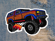 Awesome Vintage Style 70's Patch American 4 x 4 Truck Emoji Patch 9cm Iron On