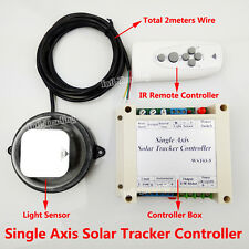 1KW Solar Panel Tracker Sun Tracking Single Axis Electronic Controller W/ Remote