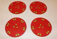 Beautiful Christmas Coasters Set 2 4 12 Snowflake Lazercut Red Felt Table Decor
