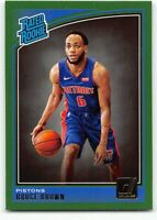 2018-19 Panini Donruss Green Parallel #161 Bruce Brown Rated Rookie RC Pistons