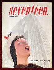 Seventeen Magazine ~ January 1948 ~ New York City's Golden Anniversary