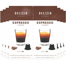 Delizia Coffee Espresso Classic Nespresso Compatible Original Capsules $0.31/ea