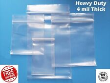 Clear Reclosable Zip Seal 4Mil Bags Heavy Duty Plastic 4 Mil Top Lock Baggies