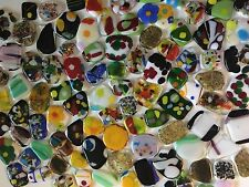 8 Abstract Xlg Pebbles Cabochons glass 96 Coe Fusing Gems Mosaic Jewelry