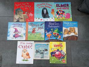 10 Book Toddler Children Bundle Preschool Elmer And Rose Aliens Love Underpants