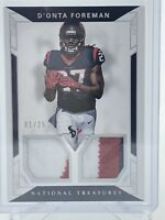 D'ONTA FOREMAN 2017 National Treasures 3 Color Dual Patch Holo First Print 1/25