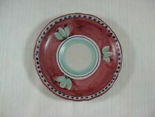 Vietri Pottery Saucer Campagna Red Chicken Blue Dots Hand Made and Hand Painted