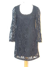 French Connection Black Crochet Lace Dress sz 2 / Euro 34 SM B-  37 1/2