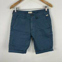 Industrie Mens Shorts 28 Blue Chino Pockets