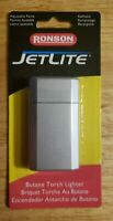 Ronson JetLite Butane Torch Lighter Adjustable Flame Refillable Gray. New