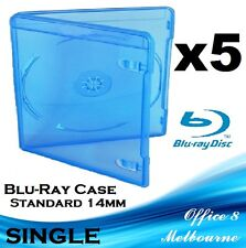 BRAND NEW Premium Quality 5 x Single Blu-Ray Case PS3 Game Case 14mm Blu Ray