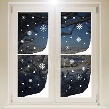 Décorations de fenêtre de Noël blanc pour la maison