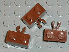 LEGO RedBrown Brick with Clip 30237 / Set 5980 7009 7094 10210 6243 7036