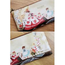 Alice in Wonderland Red Pencil Case / Pouch Korean Stationery [Kim Min Ji] Boxed