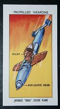 Japanese BAKA Suicide Kamikaze Plane    Illustrated  Card   Excellent Condition