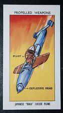 Japanese BAKA Suicide Kamikaze Plane    Illustrated  Card   Excellent Condition