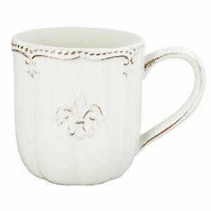 Becher Kaffeetasse Kaffeebecher Fleur de Lys Landhaus Shabby, Clayre & Eef