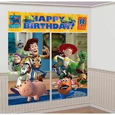 TOY STORY 3 Birthday Party Wall Mural Scene Setter Decorating Kit 6 Foot High