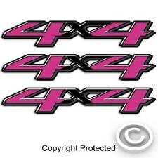Pink 4x4 Truck Carbon Fiber Decal Girl Sticker Set