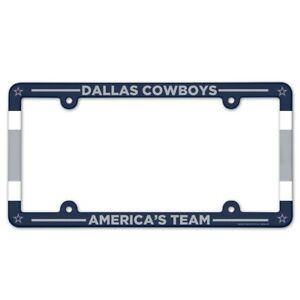 "DALLAS COWBOYS AMERICA'S TEAM 6""x12"" LICENSE PLATE FRAME NEW WINCRAFT 👀🏈"