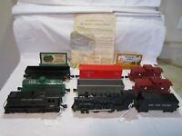 Vintage Post WWII MARX Train Lines Steam Engine & Diesel Freight Sets Twin Train