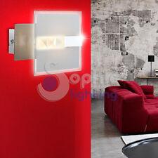Applique lampada muro LED 4,5W acciaio cromato vetro design moderno corridoio