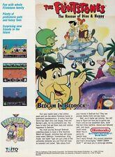 Nintendo NES FLINTSTONES Rescue of Dino & Hoppy videogame magazine print ad page