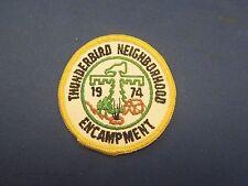 Vintage 1974 Thunderbird Neighborhood Encampment Patch Badge