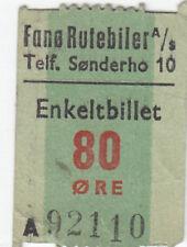 Alte Fahrkarte Dänisch Einzelfahschein  (G4361)