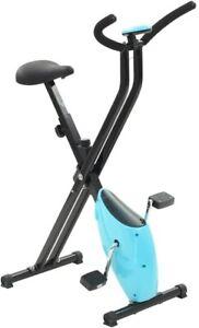 Vélo d'appartement pliable résistance a courroie LCD fitness cardio training gym