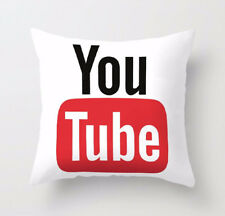 Luxury Microfibre Social Media Cushion Covers Decorative Pillow Cover 18 X 18 YouTube With Filling