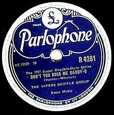 SKIFFLE 78 VIPERS  DON'T YOU ROCK ME DADDY-O / 10,000 YEARS AGO  PARL. R 4261 V+