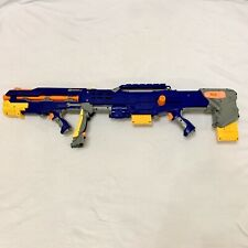 NERF N-Strike Longshot CS-6 Blaster Rifle With 2 Clips And Extra Darts Working