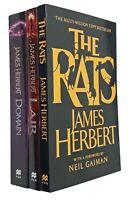 James Herbert 3 Books Rats Series Classic Horror Thriller Lair Domain New