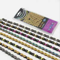 8/9/10/11 Speed Bicycle Chains 116 Links Premium For Folding Mountain Road Bike