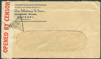 BRITISH INDIA TO USA Old Censored Cover VF