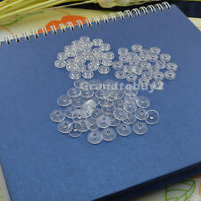 100 Set Size 16/t3 Kam Clear Snaps Plastic Button Resin Poppers Fasteners Craft