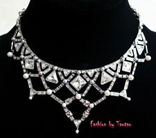 New In Box Signed Swarovski Relate Crystal Pearl Neclace 1125948