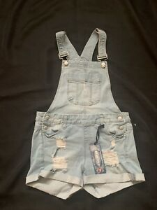 NWT Blue Spice denim overall shorts / shortalls, Size 5 Color Light Kylie