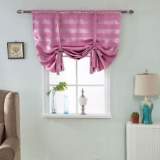 Beauty Blackout Roman Curtain Sheer Tie Up Window Balloon Shade Voile 01