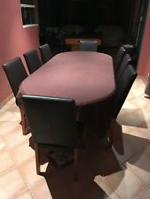 Extendable Oak Table + Dining Chairs