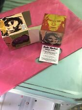 ANDY WARHOL Limited Edition Cube with Box 2001 Pop new in plastic