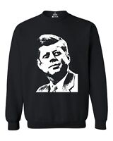 JFK Silhouette Crewnecks John F. Kennedy President Political Sweatshirts