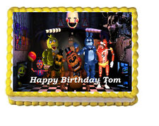 Five Nights at Freddy's FNAF Edible Cake Topper Frosting Image Decoration Party