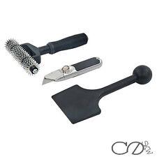 3 piece carpet fitting tool set seam roller stair press u0026 cutterknife diy kit