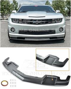 For 10-13 Camaro SS | EOS TL1 Style PRIMER BLACK Front Bumper Lower Lip Splitter
