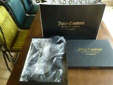 RRP£247 UK5 JUICY COUTURE BELLA over the knee long black suede boots boxed bag