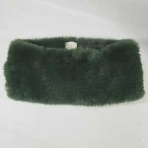 Womens A New Day Green Infinity Scarf Neck Wrap Faux Fur Furry Fuzzy Soft Warmer